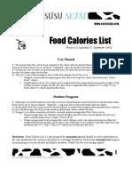 Food Calorie List 2.0