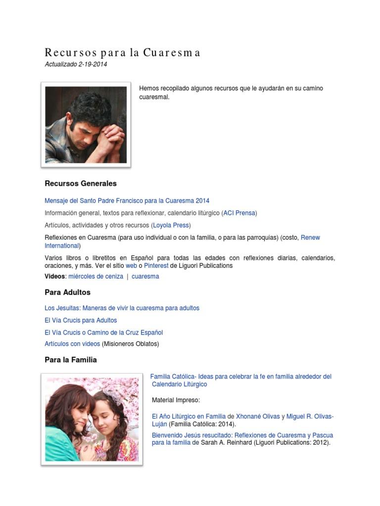 Aci Prensa Calendario.Recursos Para La Cuaresma 2 19 2014 Pdf