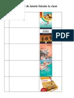 Lista manualelor de istorie folosite la clasă