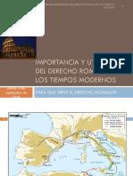 Importancia y Utilidad Del Derecho Romano