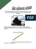 Adat Istiadat Sulawesi Selatan Sangat Lah Uni Seprti Rumah Adat Nya