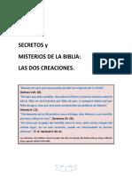 Secreto Bíblico, las dos creaciones.