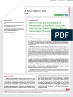 Effectiveness and Tolerability of Febuxostat vs Allopurinol in patients with Chronic Kidney Disease (CKD) on Conservative Therapy