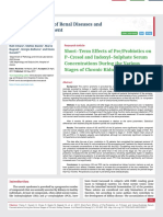 Short-Term Effects of Pre/Probiotics on P-Cresol and Indoxyl-Sulphate Serum Concentrations During the Various Stages of Chronic Kidney Disease