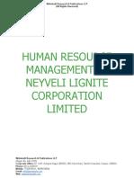 Human Resource Management in Neyveli Lignite Corporation Limited [www.writekraft.com]