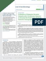 Evaluation of Dopamine Receptor Integrity after Sevofl urane Exposure in Neonatal Rat Brain Using Positron Emission Tomography