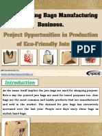 Jute Shopping Bags Manufacturing Business