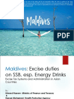 Excise Tax Systems and Administration in Asian  - Maldives