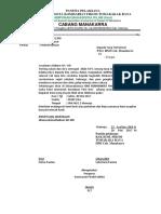 Contoh Surat Kecabang HMI