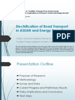 Electrification of Road Transport in ASEAN and Implications on Energy