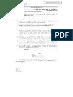 Affidavit With Waiver Member