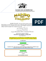 Bando Audizioni Mambo Italiano Il Musical_Source JMIAS.com - International Acting