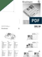 Cmu 108 Hirschmann user manual