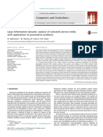 Large deformation dynamic analysis of saturated porous media with applications to penetration problems.pdf