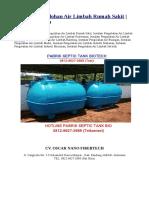 Instalasi Pengelohan Air Limbah Rumah Sakit | 0812-9627-2689