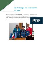 México Firmó Estrategia de Cooperación Con La OPS y La OMS