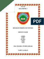 Biografi Ferdinand Tonnies