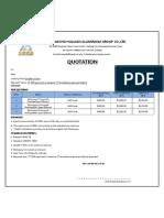 Formwork Quotation