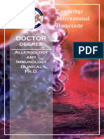 Allergology Immunology Clinical PhD