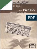 FR PC-1500 Manuel d Instruction