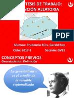 HIPOTESIS de TRABAJO_Funcion Aleatoria - G.P