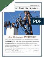 Guatemala. ENERGUATE, empresa criminal