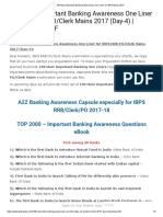100 Most Important Banking Awareness One Liner for IBPS Mains   2017.pdf