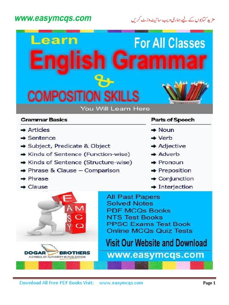 English Grammar Notes pdf | Adverb | Verb