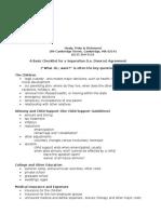Separation Agreement checklist MASS