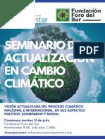 Seminario de Actualizacion en Cambio Climatico