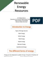 Introduction Renewal Energy Resources ( IIT-BHU )