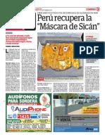 Perú Recupera La Máscara de Sicán