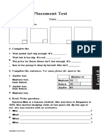 1-3 LEVEL 6 elementary school placement test