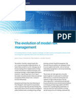 The Evolution of Model Risk Management