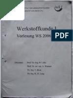 Werkstoffkunde I- Institut Für Werkstoffkunde KIT Script 2006. Prof. Löhe