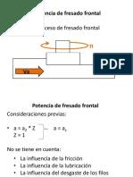Potencia de Fresado Frontal