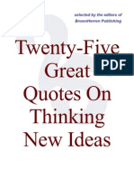 25 Quotes on New Ideas