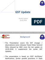 GST-Update26052018 pdf | Taxes | Customs