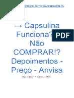 → Composto CAPSULINA Diabetes Funciona? | É Fraude? 【Bula】 Onde Comprar?