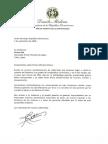Carta de solidaridad del presidente Danilo Medina a Shinzo Abe, primer ministro de Japón, por víctimas del tifón Jebi