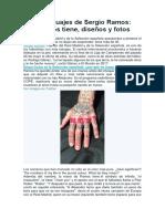 Los Tatuajes de Sergio Ramos