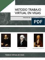 Metodo Trabajo Virtual en Vigas