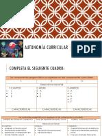 Componentes Autonomia Curricular