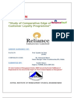 study of comparative edge of reliance fresh customer loyalty programme