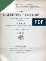 Tesis 00887 Las Cuarentenas y Lazaretos Entre Nosotros Ponce Carlos 1888