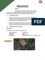 Informe Visita de Obra Puente de Bellavista