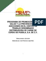 Programa de Promoción de La Salud y Prevención de Adicciones