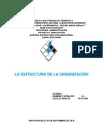 Unidad i La Estructura de La Organización
