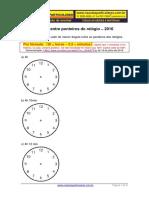 Trigonometria Ângulo Entre Ponteiros Do Relógio 2016