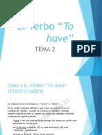 """Tema 2.1 -  El Verbo """"to have"""""""
